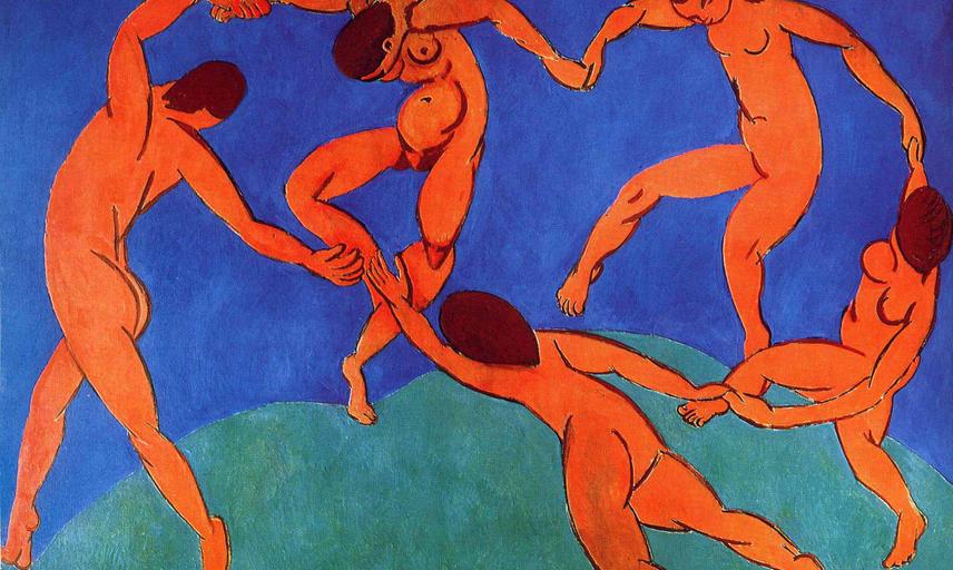 Matisse painting of dancing women.