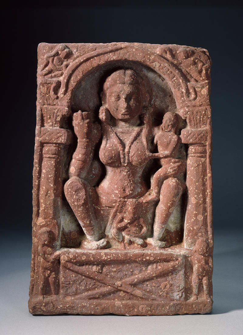 Sculpture of Hariti as protector of children