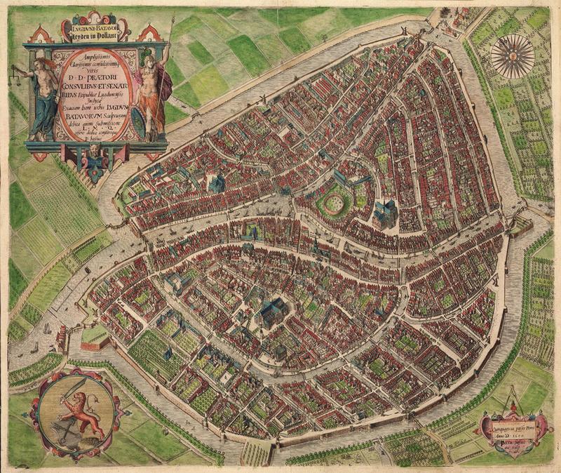 Map of Leiden 1600
