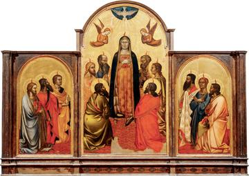 Triptych by Andrea Di Coine of the Virgin Mary