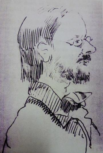 Portrait drawing of a man