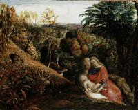 Landscape with the Repose of the Holy Family by Samuel Palmer