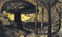 Pen and ink drawing by Samuel Palmer