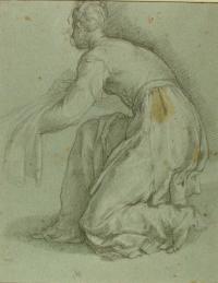 Agostino Ciampelli (1565 -1630) Studies of Three figures, in direct light